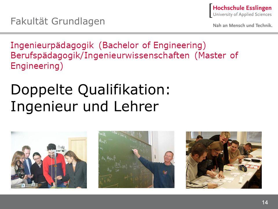 Doppelte Qualifikation: Ingenieur und Lehrer