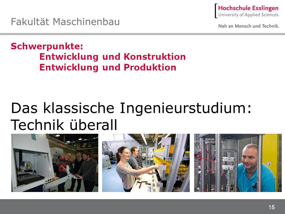 Fakultät Maschinenbau