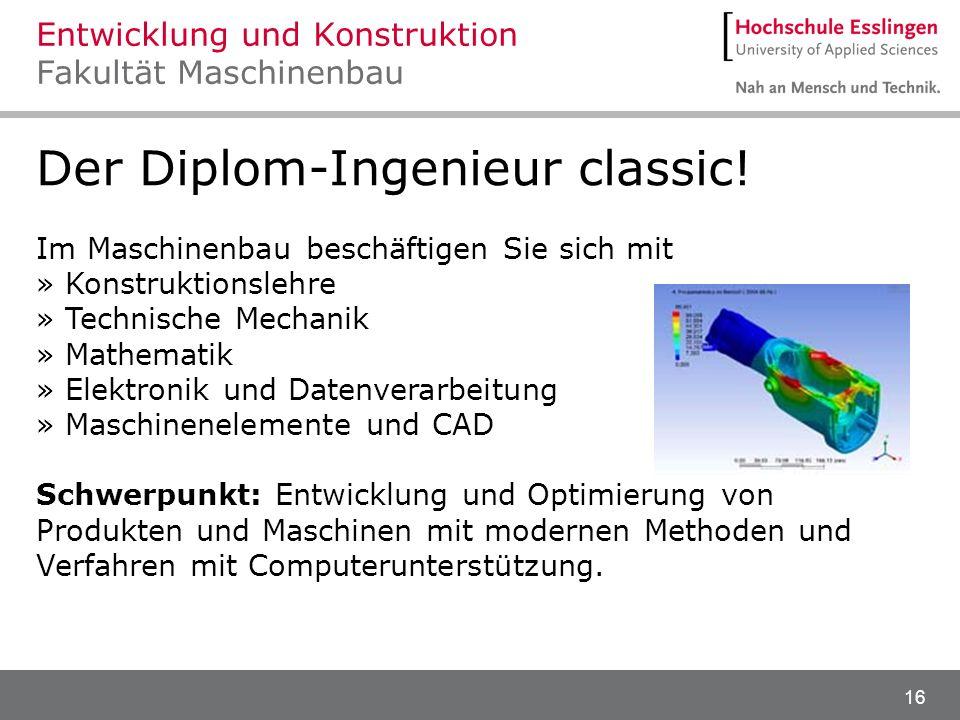 Entwicklung und Konstruktion Fakultät Maschinenbau