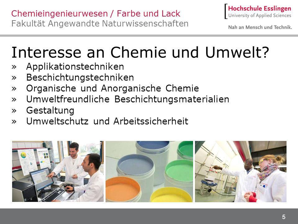 Interesse an Chemie und Umwelt