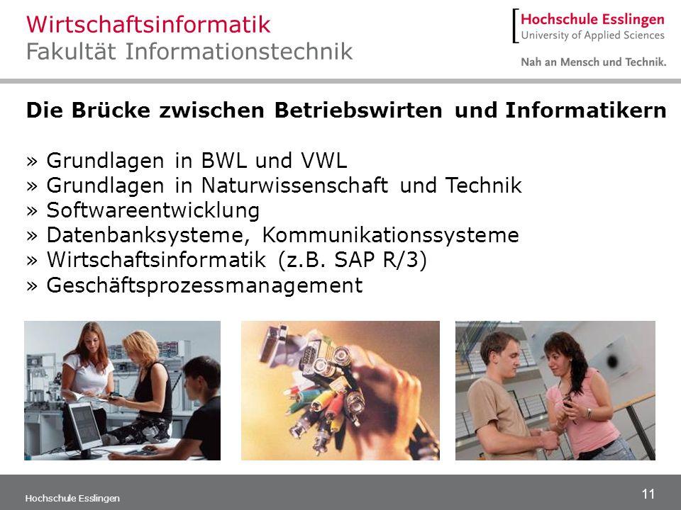 Wirtschaftsinformatik Fakultät Informationstechnik