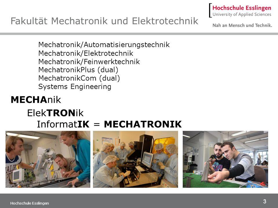 Fakultät Mechatronik und Elektrotechnik