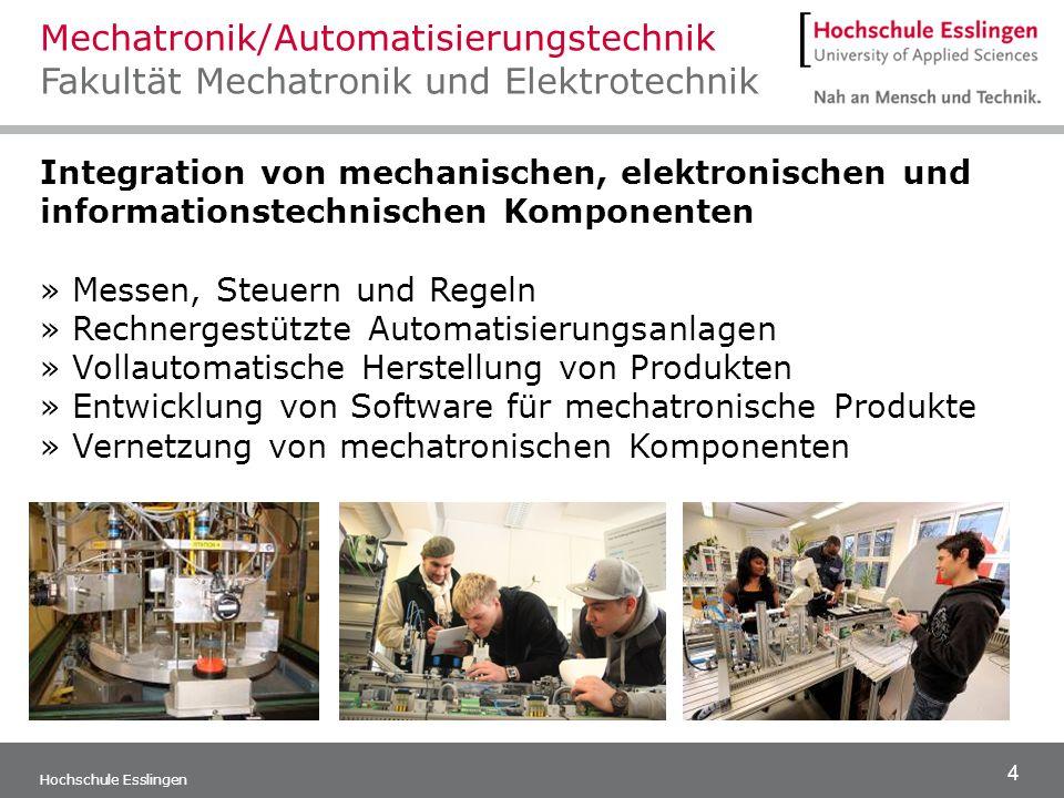 Mechatronik/Automatisierungstechnik Fakultät Mechatronik und Elektrotechnik