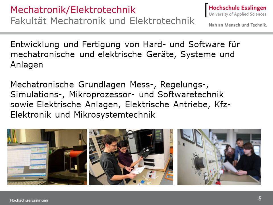 Mechatronik/Elektrotechnik Fakultät Mechatronik und Elektrotechnik