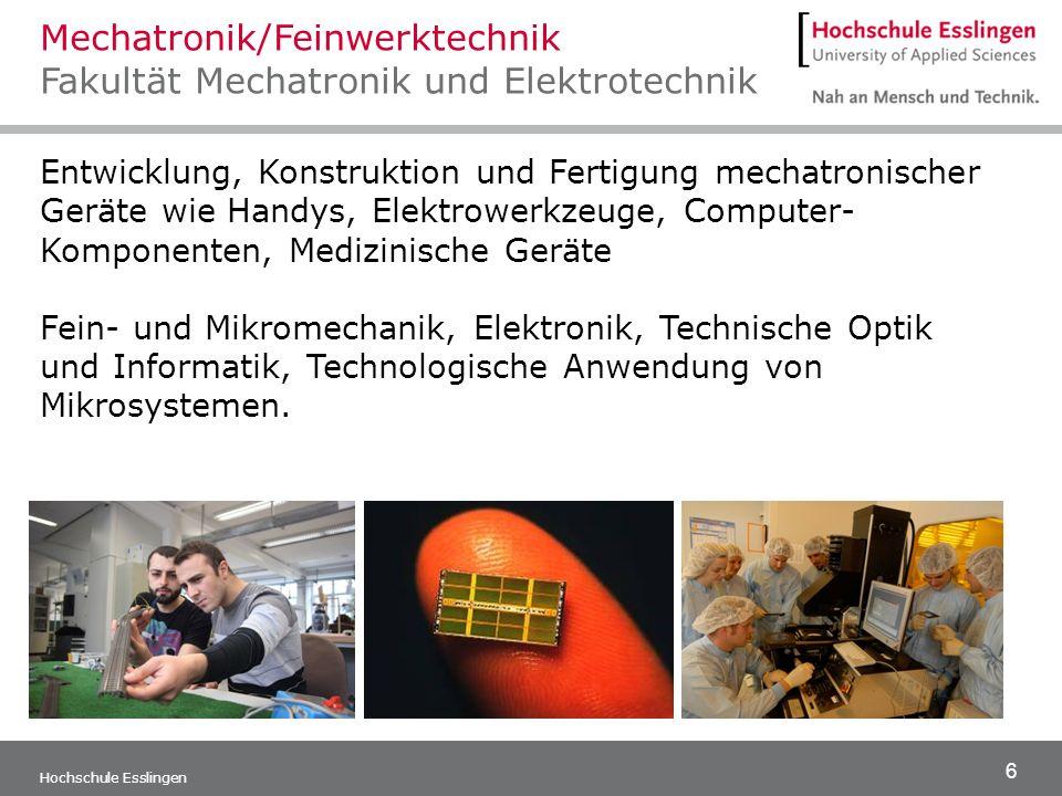 Mechatronik/Feinwerktechnik Fakultät Mechatronik und Elektrotechnik