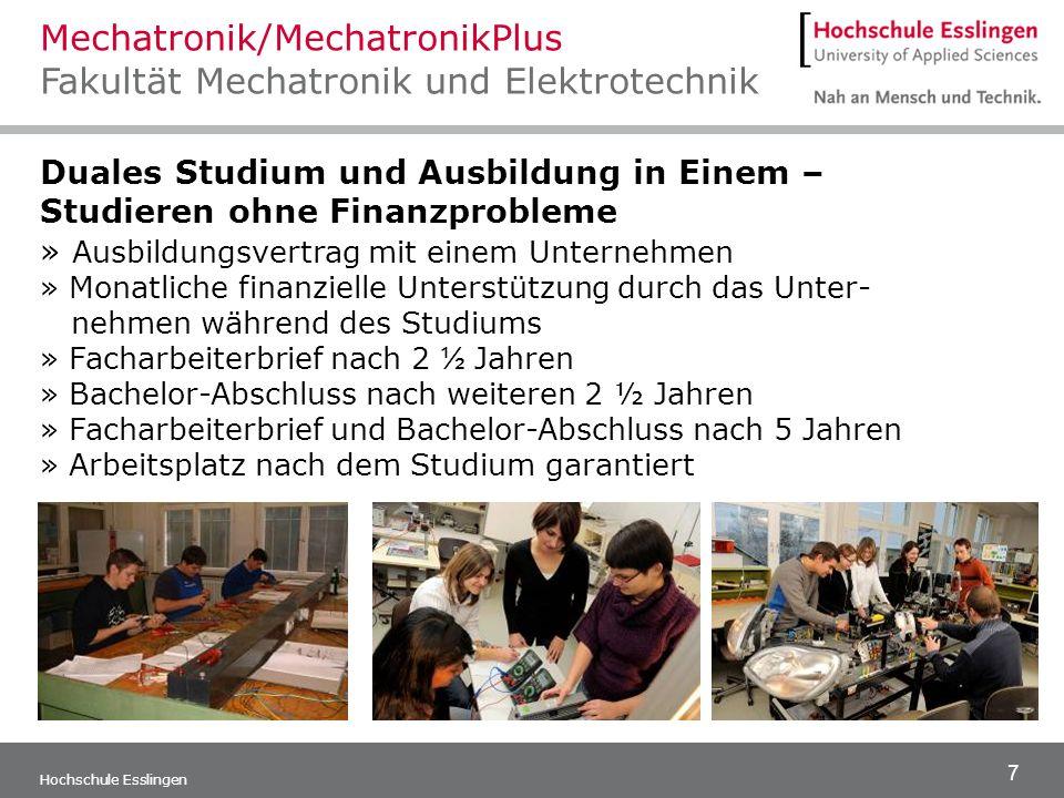 Mechatronik/MechatronikPlus Fakultät Mechatronik und Elektrotechnik