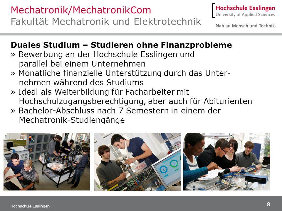 Mechatronik/MechatronikCom Fakultät Mechatronik und Elektrotechnik