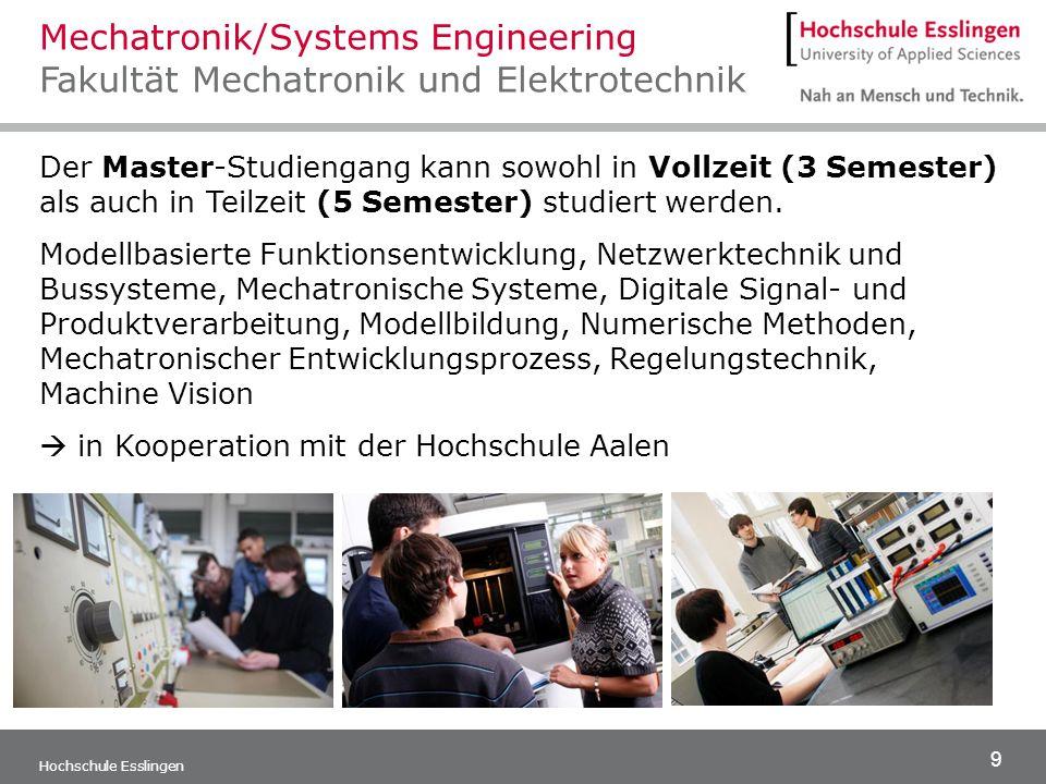 Mechatronik/Systems Engineering Fakultät Mechatronik und Elektrotechnik