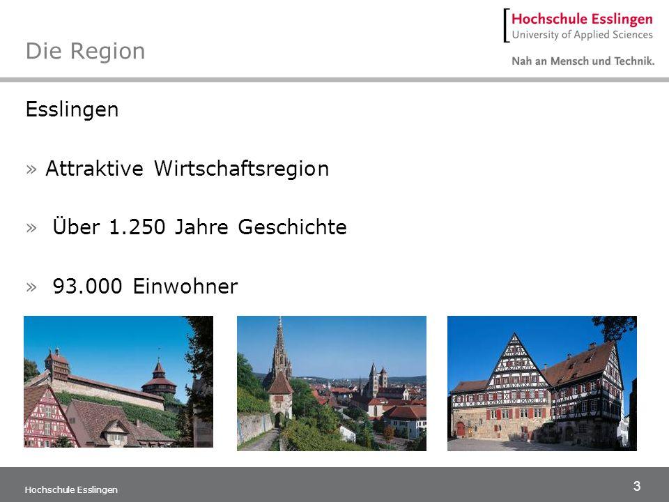 Die Region Esslingen Attraktive Wirtschaftsregion