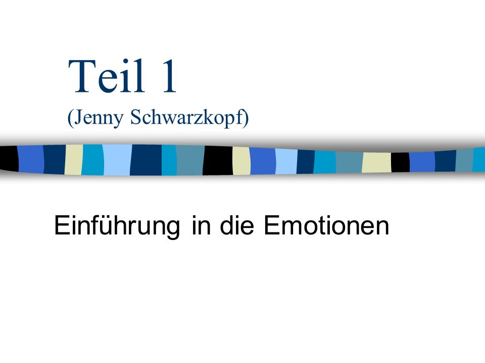 Teil 1 (Jenny Schwarzkopf)