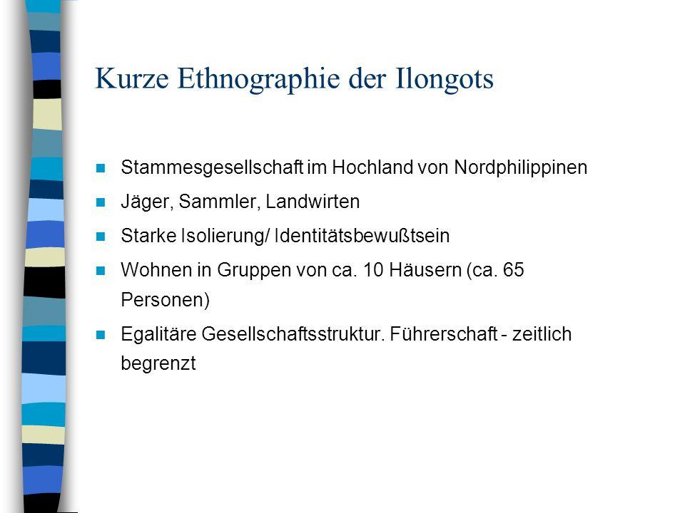 Kurze Ethnographie der Ilongots