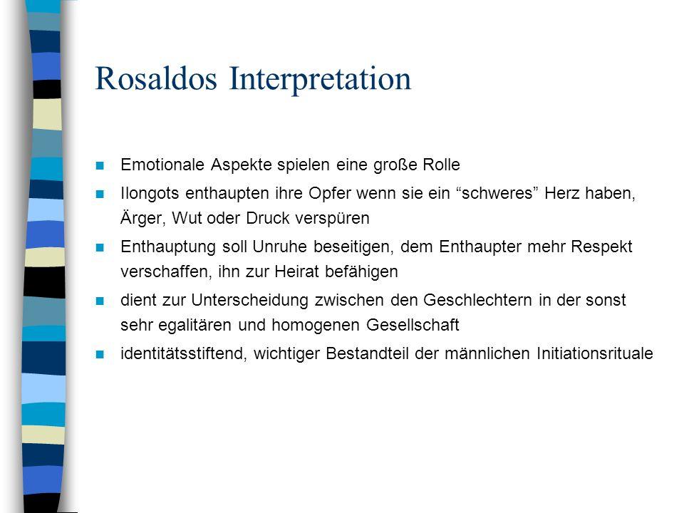 Rosaldos Interpretation