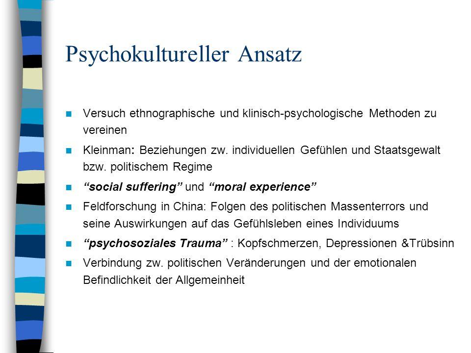 Psychokultureller Ansatz