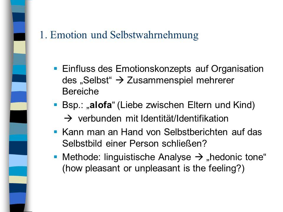 1. Emotion und Selbstwahrnehmung