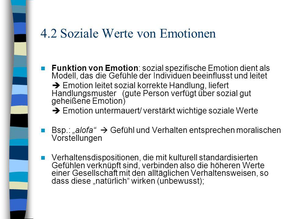 4.2 Soziale Werte von Emotionen