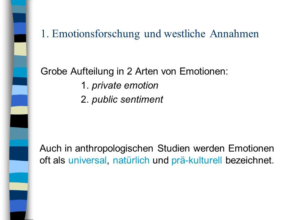 1. Emotionsforschung und westliche Annahmen