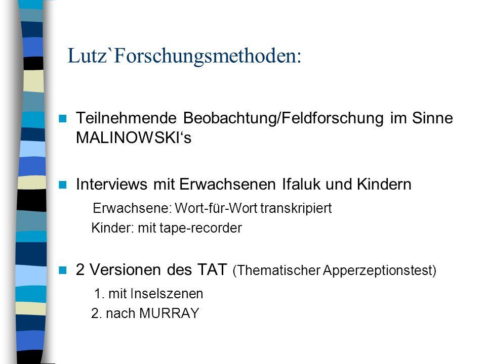 Lutz`Forschungsmethoden: