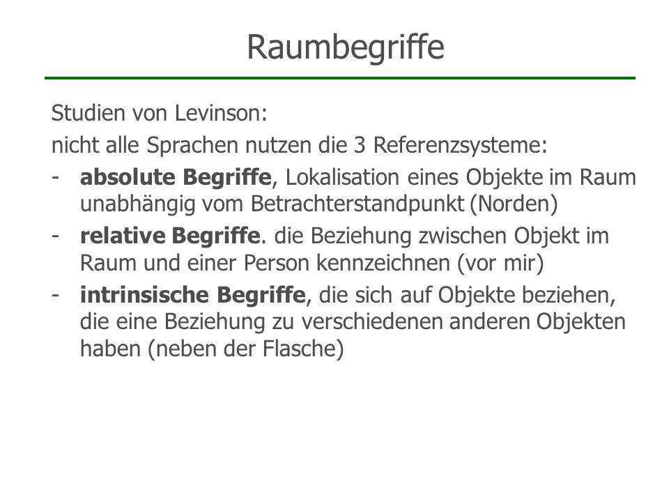 Raumbegriffe Studien von Levinson: