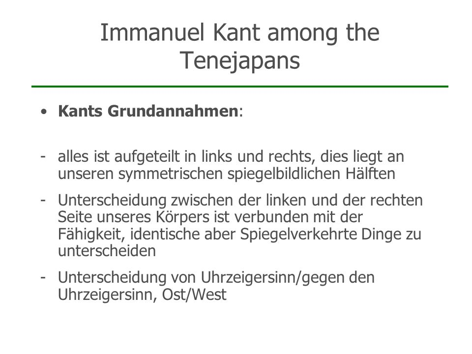 Immanuel Kant among the Tenejapans