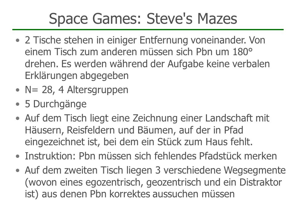 Space Games: Steve s Mazes