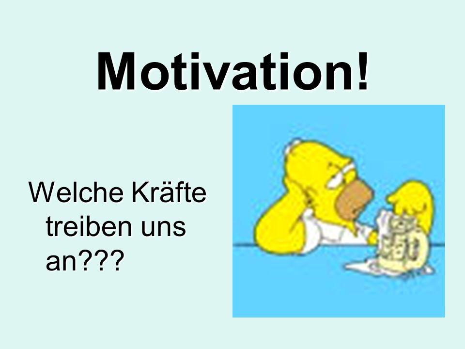 Motivation! Welche Kräfte treiben uns an