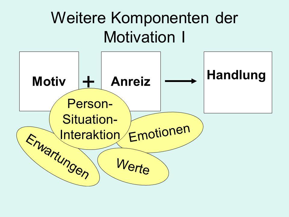 Weitere Komponenten der Motivation I