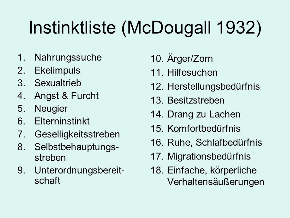 Instinktliste (McDougall 1932)