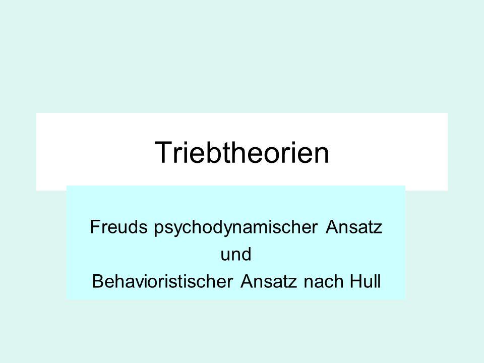 Freuds psychodynamischer Ansatz und Behavioristischer Ansatz nach Hull