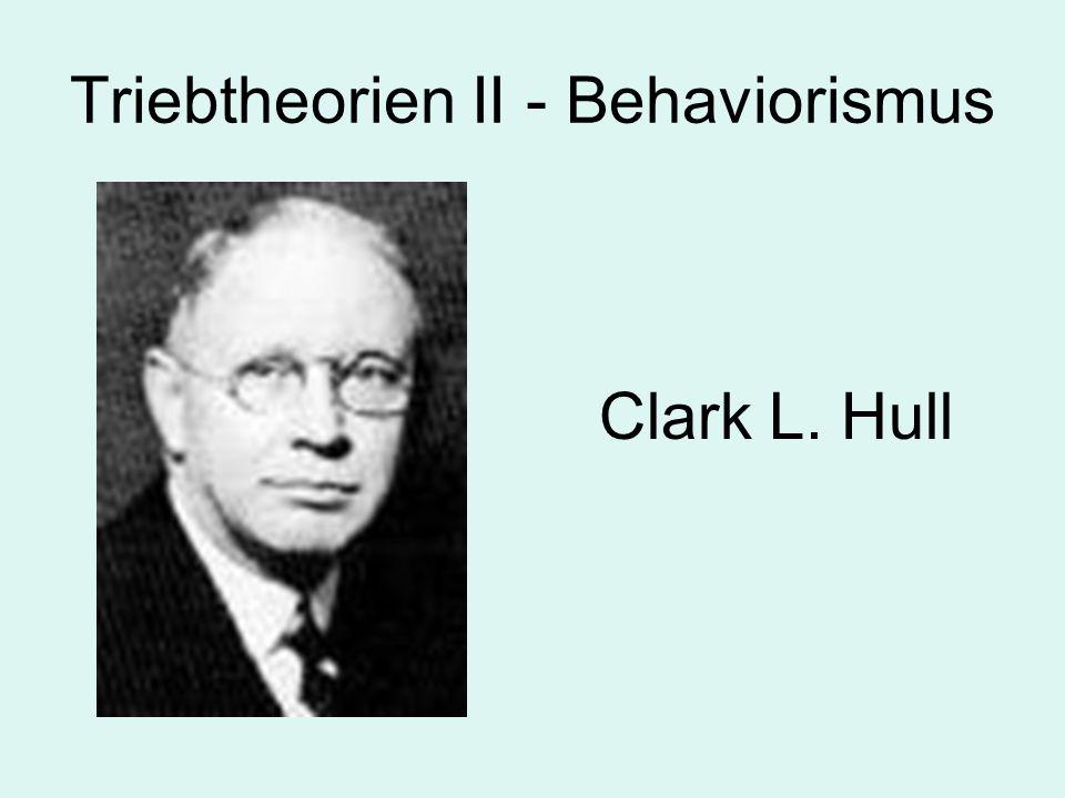 Triebtheorien II - Behaviorismus