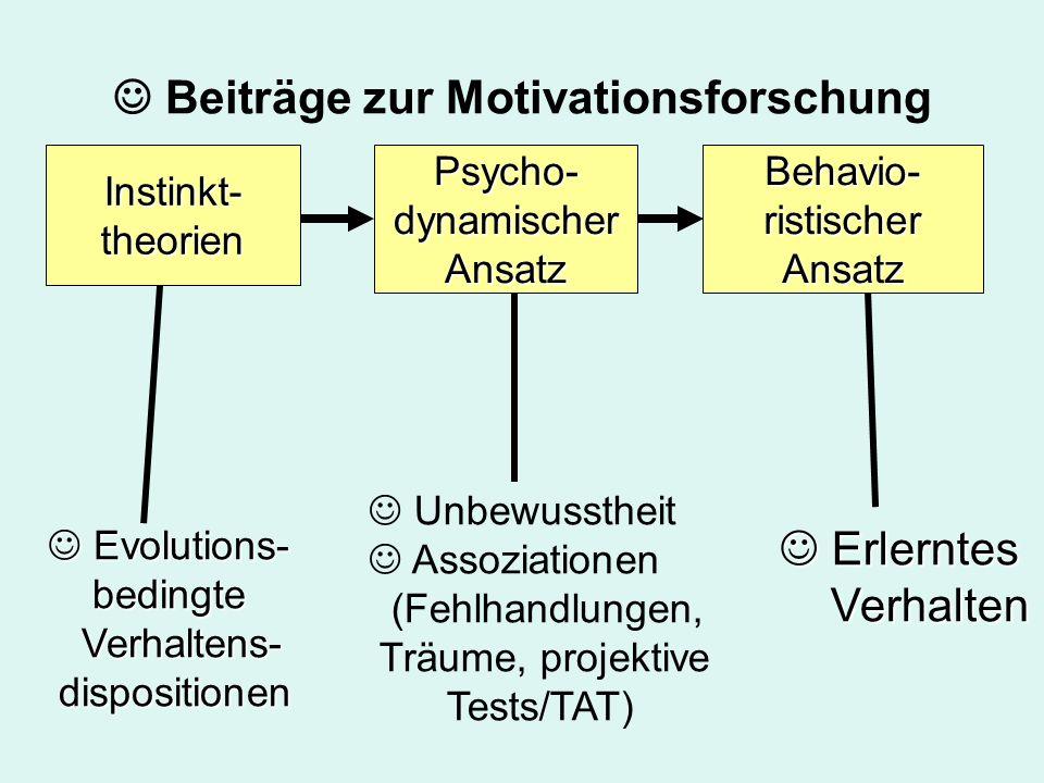  Beiträge zur Motivationsforschung