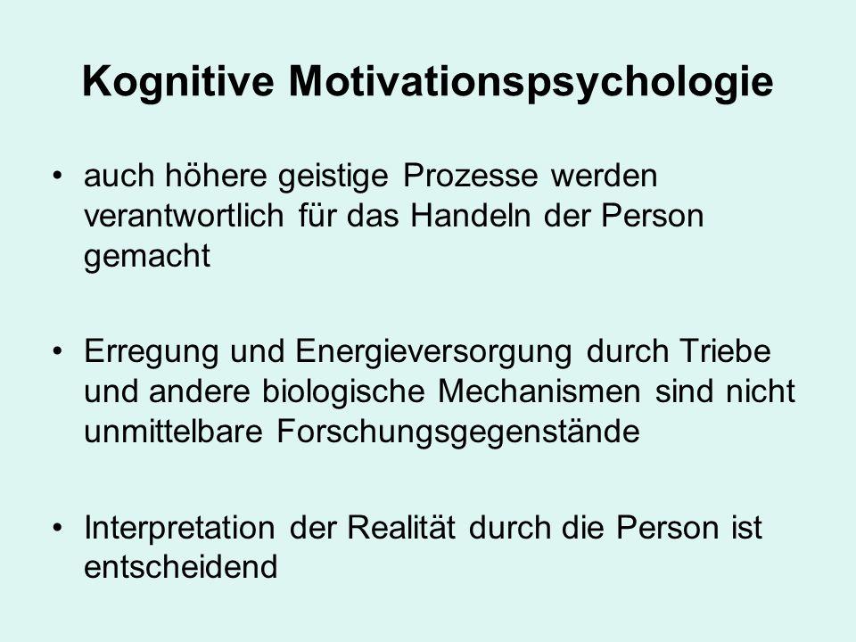Kognitive Motivationspsychologie