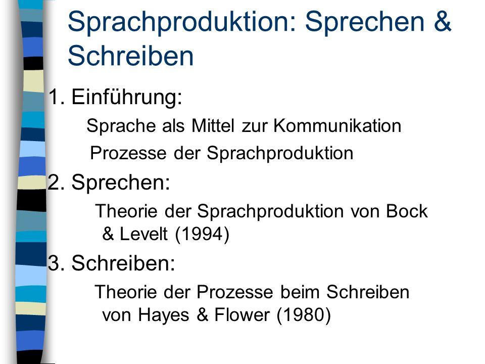 Sprachproduktion: Sprechen & Schreiben