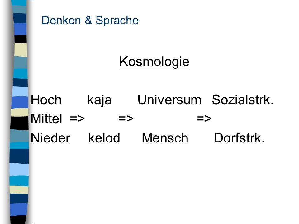 Hoch kaja Universum Sozialstrk. Mittel => => =>