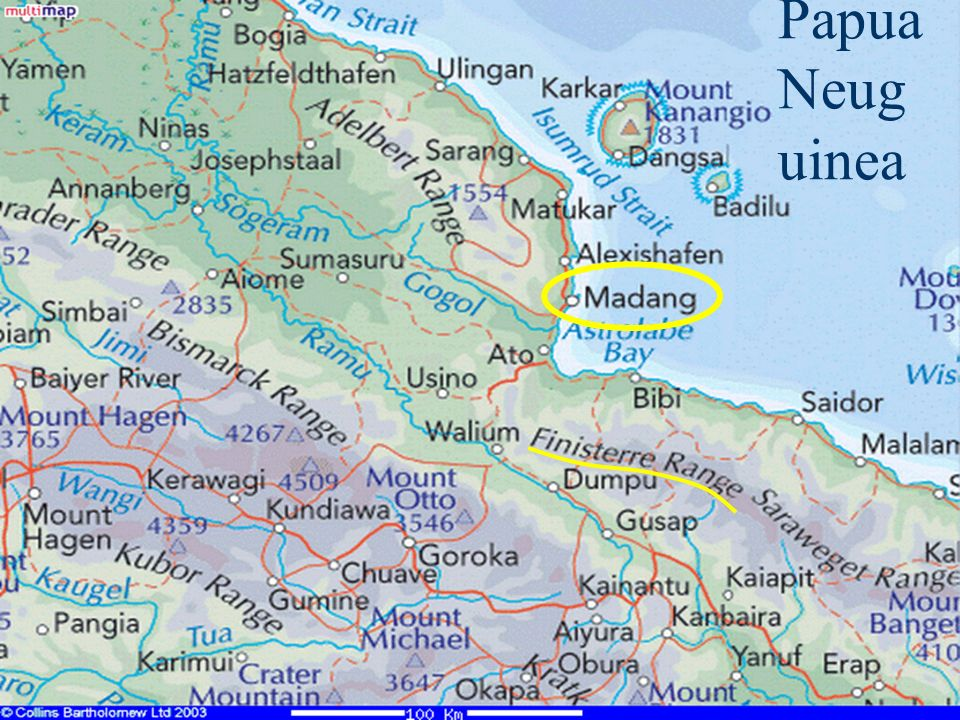 Karte Papua Neuguinea