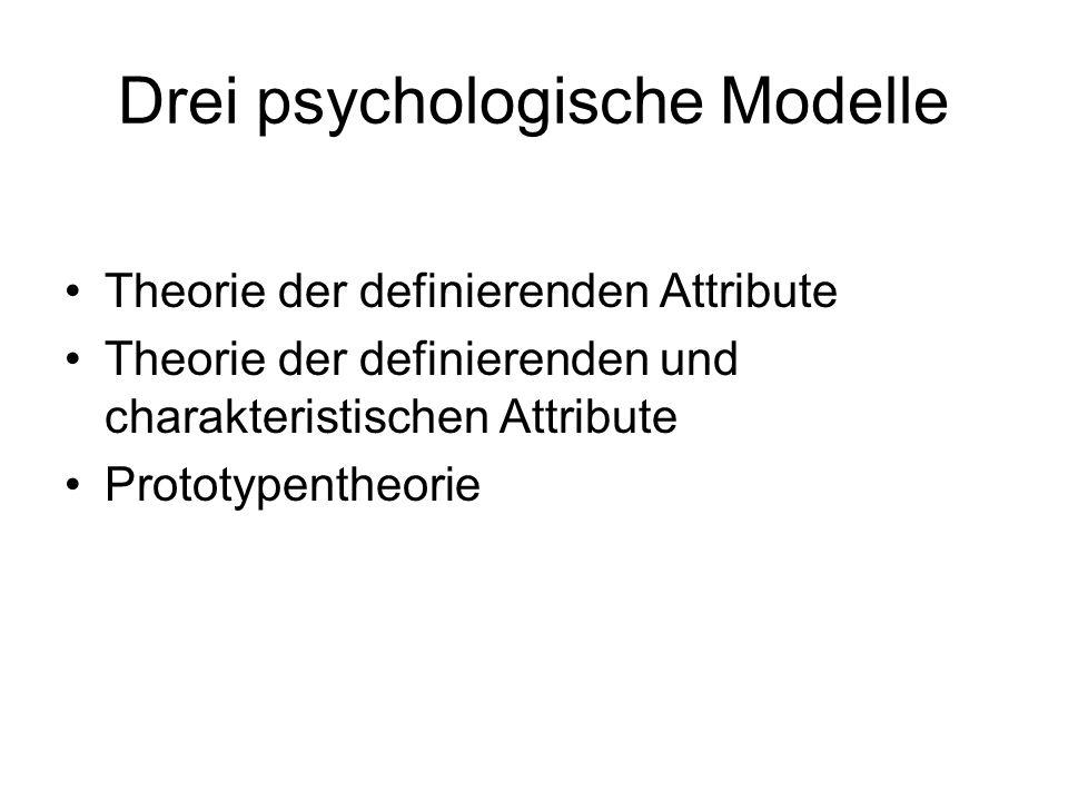 Drei psychologische Modelle