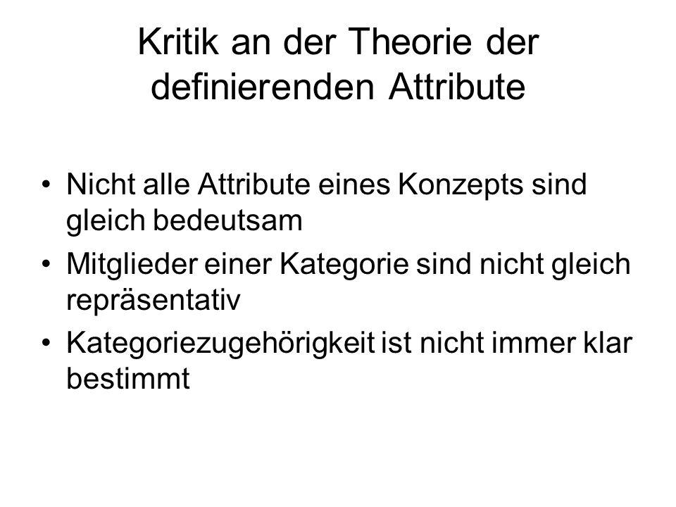 Kritik an der Theorie der definierenden Attribute