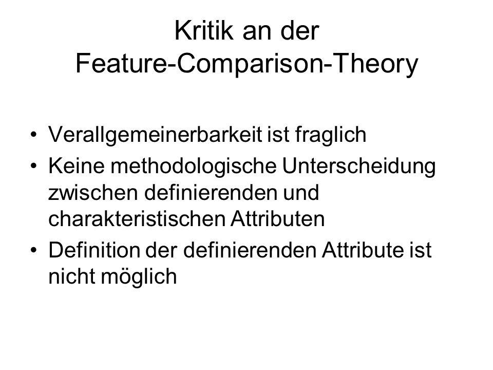 Kritik an der Feature-Comparison-Theory