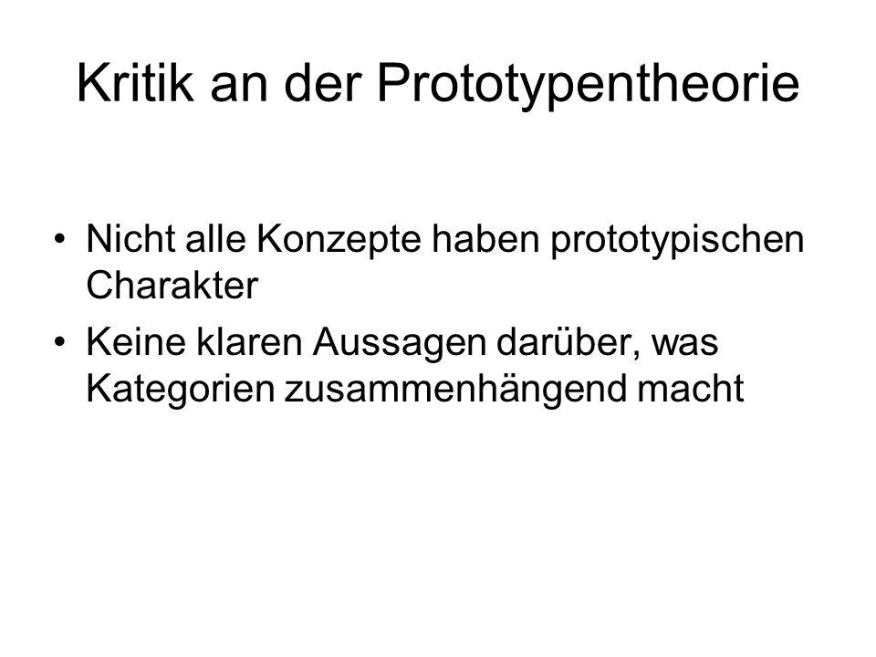 Kritik an der Prototypentheorie