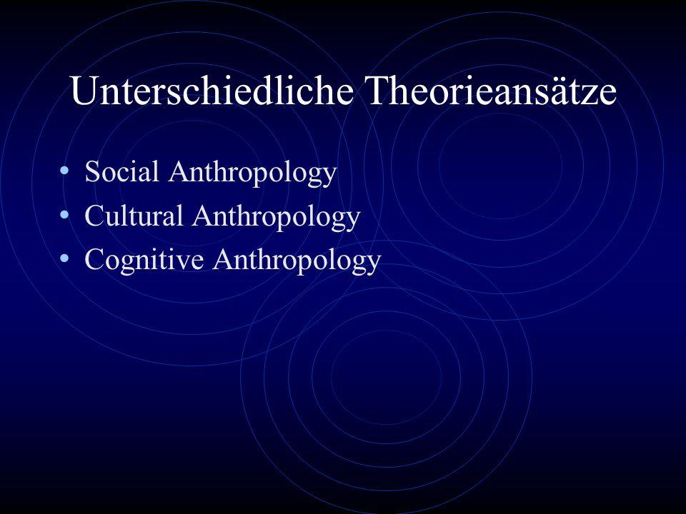 Unterschiedliche Theorieansätze