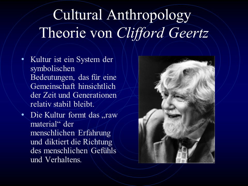 Cultural Anthropology Theorie von Clifford Geertz
