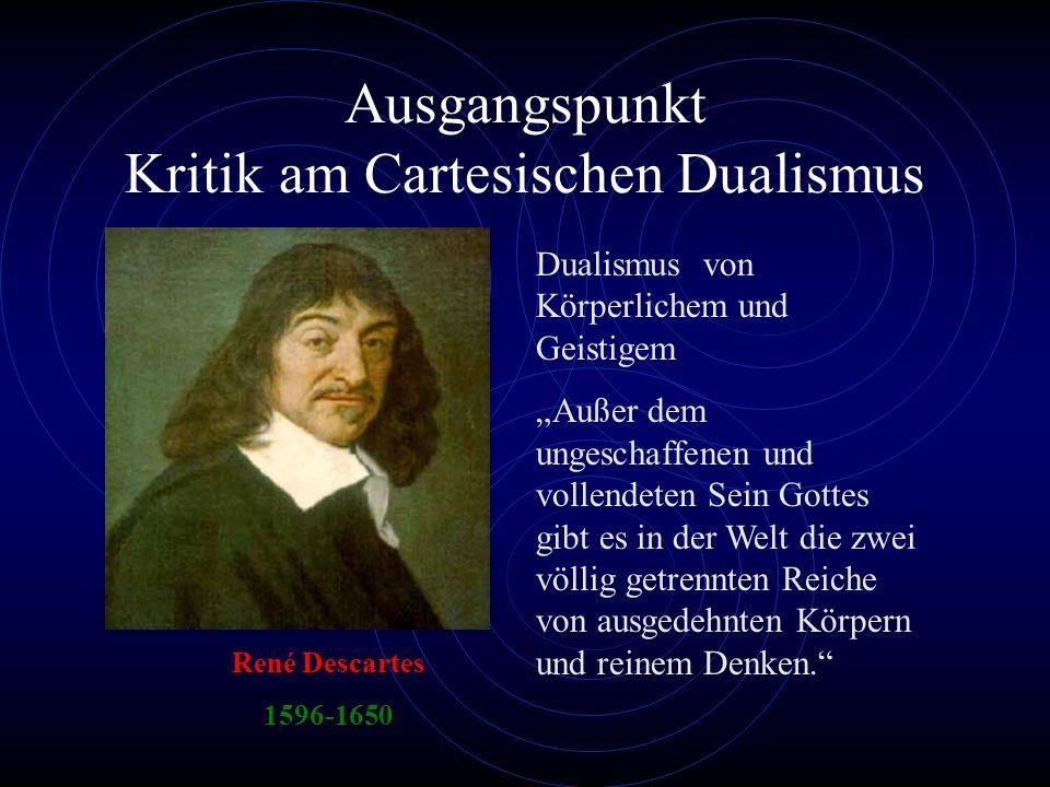 Ausgangspunkt Kritik am Cartesischen Dualismus