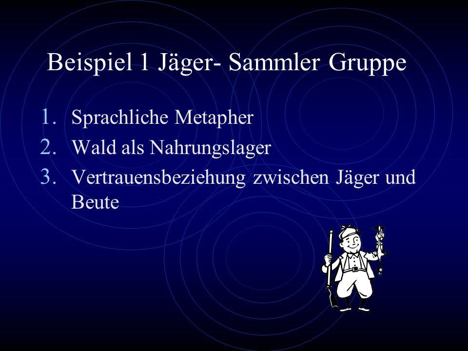 Beispiel 1 Jäger- Sammler Gruppe