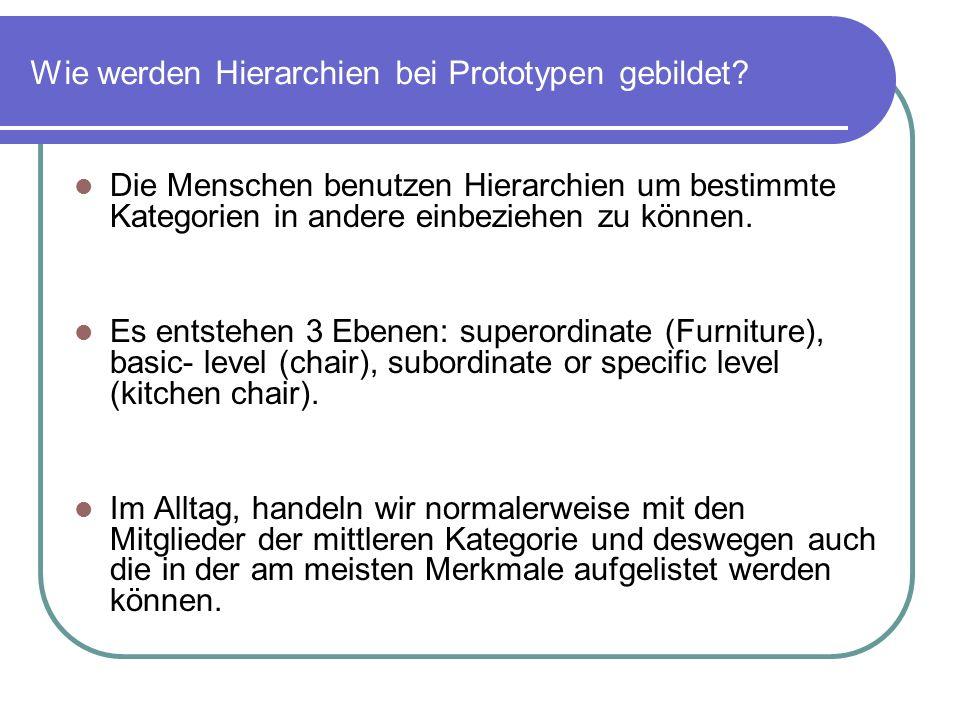 Wie werden Hierarchien bei Prototypen gebildet