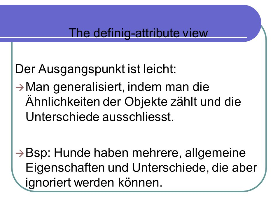 The definig-attribute view
