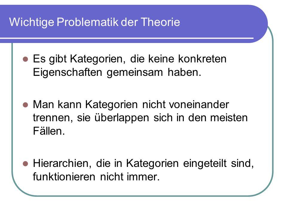 Wichtige Problematik der Theorie