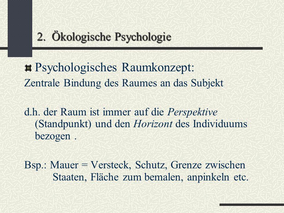 2. Ökologische Psychologie
