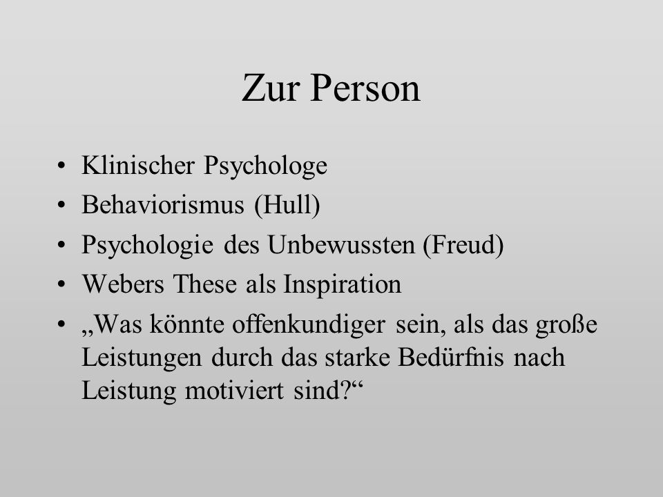 Zur Person Klinischer Psychologe Behaviorismus (Hull)
