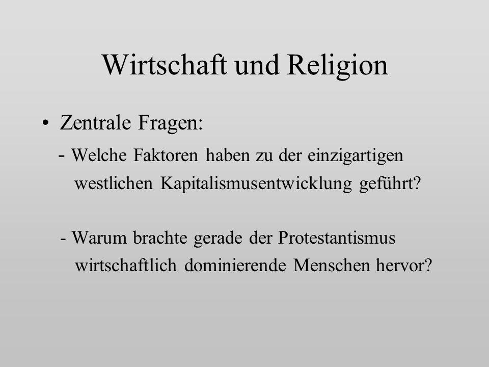 Wirtschaft und Religion