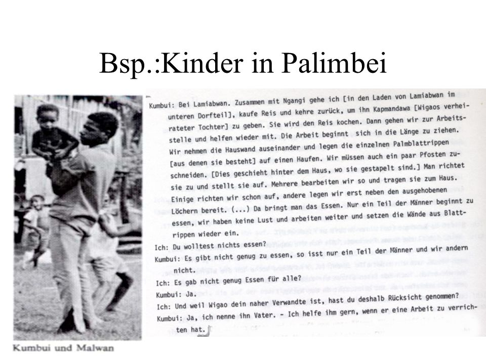 Bsp.:Kinder in Palimbei