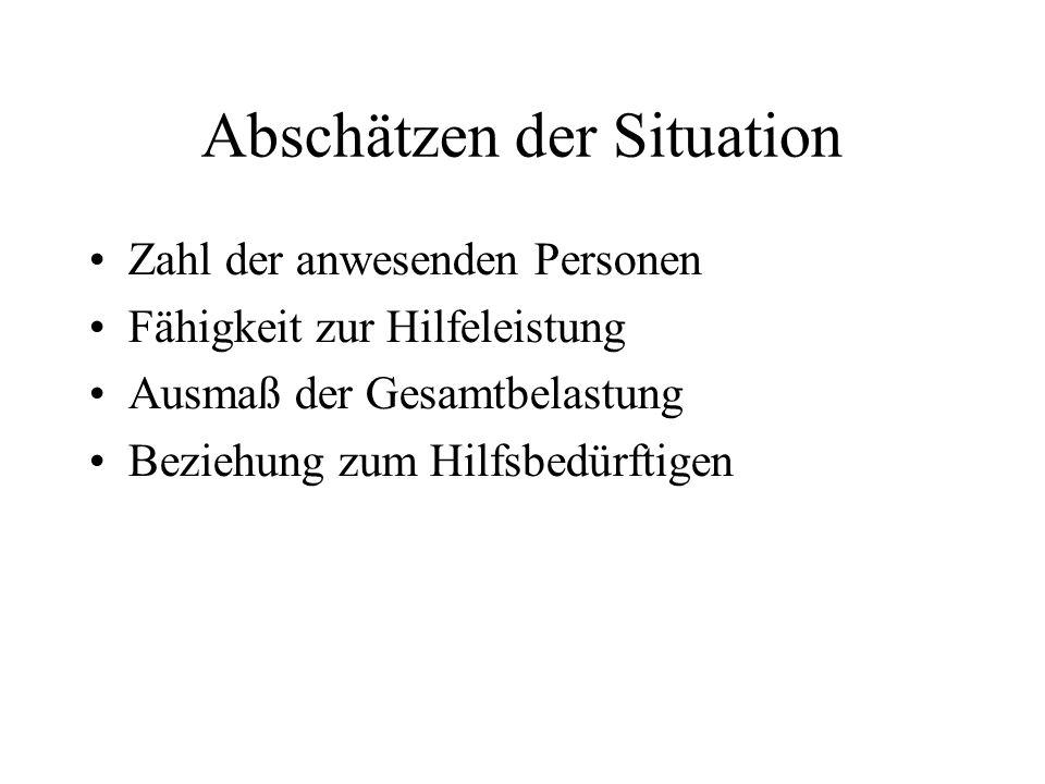 Abschätzen der Situation